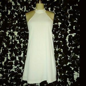 White Halter Sun Dress with Pockets
